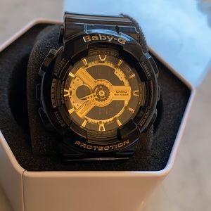 Women's Baby-G BA110-1A Black Resin Quartz Watch